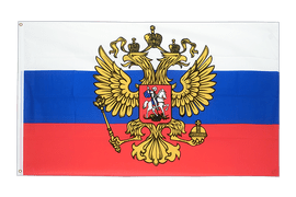 Russia with crest - 5x8 ft Flag