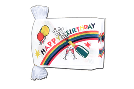 Fahnenkette Happy Birthday - 15 x 22 cm