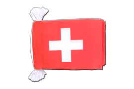 Switzerland Flag Bunting - 6x9""