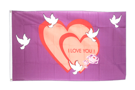 Drapeau I love You - 90 x 150 cm