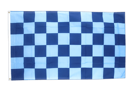 Checkered Blue-Blue - 3x5 ft Flag