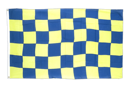 Checkered Blue-Yellow - 3x5 ft Flag