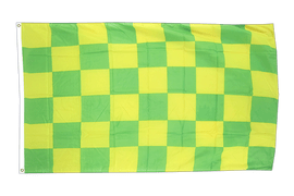Checkered Green-Yellow - 3x5 ft Flag