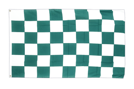 Checkered Green-White - 3x5 ft Flag