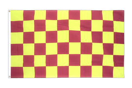 Checkered Purple-Yellow - 3x5 ft Flag