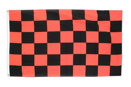 Checkered Black-Red - 3x5 ft Flag
