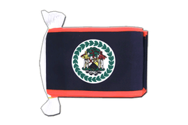 Belize - Flag Bunting 6x9""