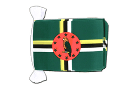 Dominica - Flag Bunting 6x9""
