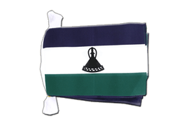 Lesotho new Flag Bunting - 6x9""