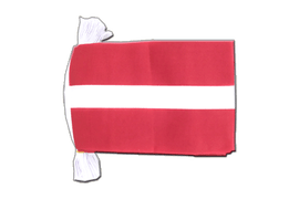 Latvia - Flag Bunting 6x9""