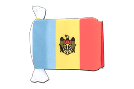 Guirlande fanion Moldavie - 15 x 22 cm