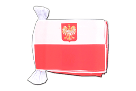 Poland with eagle - Flag Bunting 6x9""