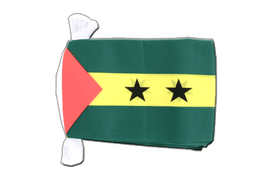 Sao Tome and Principe - Flag Bunting 6x9""