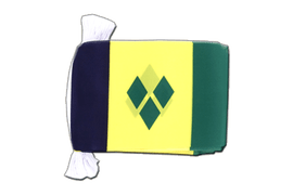 Saint Vincent and the Grenadines - Flag Bunting 6x9""