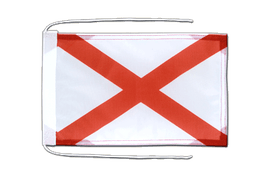 Alabama - Flag with ropes 8x12""