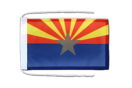 Arizona - Flag with ropes 8x12""