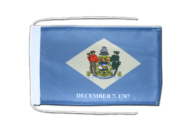 Delaware - Flag with ropes 8x12""