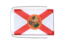 Florida - Flag with ropes 8x12""