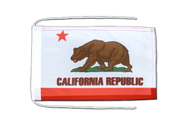California - Flag with ropes 8x12""