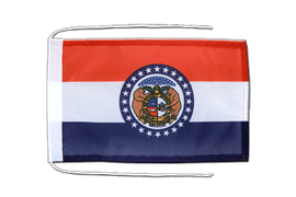 Missouri - Flag with ropes 8x12""