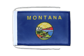 Montana - Flag with ropes 8x12""