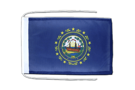 New Hampshire - Flag with ropes 8x12""