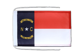 North Carolina - Flag with ropes 8x12""