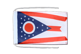 Ohio - Flag with ropes 8x12""