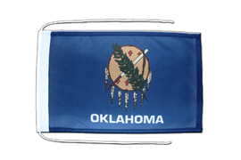 Oklahoma - Flag with ropes 8x12""