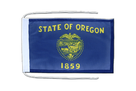Oregon - Flag with ropes 8x12""