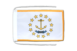 Rhode Island - Flag with ropes 8x12""