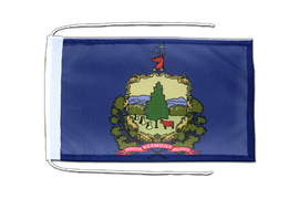 Vermont - Flag with ropes 8x12""
