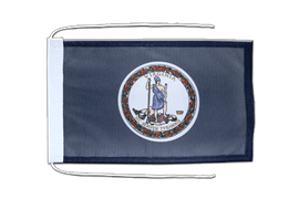 Virginia - Flag with ropes 8x12""