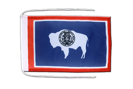 Wyoming - Flag with ropes 8x12""