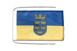 Lower Austria - Flag with ropes 8x12""