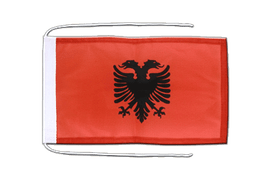 Albania - Flag with ropes 8x12""