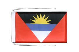 Antigua and Barbuda - Flag with ropes 8x12""