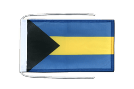 Bahamas - Flag with ropes 8x12""