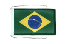 Brazil - Flag with ropes 8x12""
