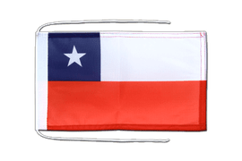 Chile - Flag with ropes 8x12""