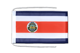 Costa Rica - Flag with ropes 8x12""