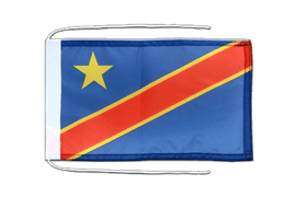 Democratic Republic of the Congo - Flag with ropes 8x12""