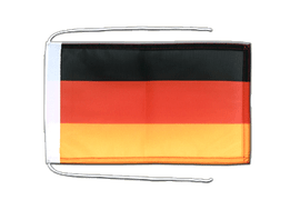 Flag with ropes Germany - 8x12""