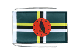 Dominica - Flag with ropes 8x12""