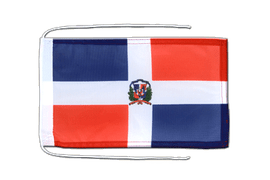 Dominican Republic - Flag with ropes 8x12""
