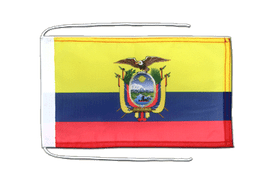 Ecuador - Flag with ropes 8x12""