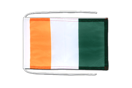 Ivory Coast - Flag with ropes 8x12""