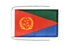 Eritrea - Flag with ropes 8x12""