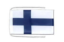Finland - Flag with ropes 8x12""