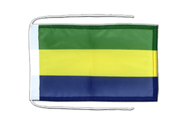 Gabon - Flag with ropes 8x12""